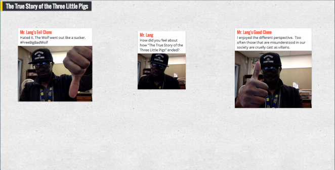 Selfies on Padlet